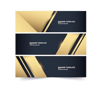 Banner de lujo dorado vertical
