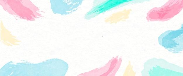 Banner de manchas de acuarela