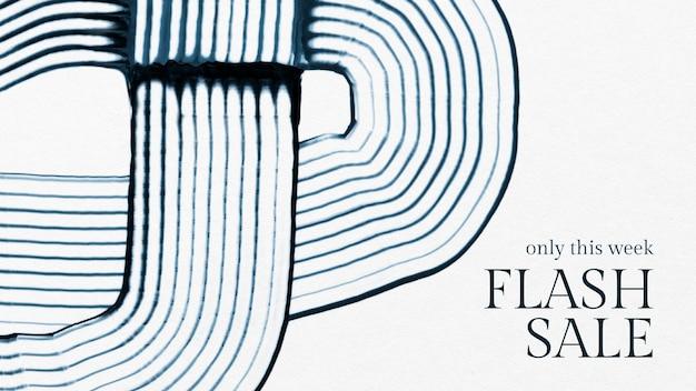 Banner de marketing abstracto de vector de plantilla de venta de pintura de peine para marcas de moda