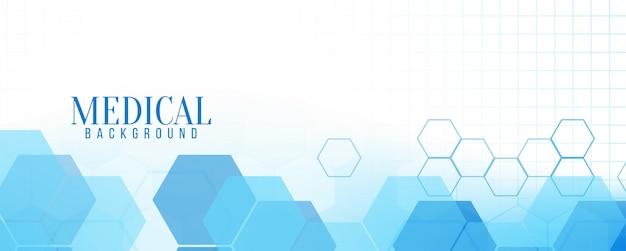 Banner médico moderno azul abstracto