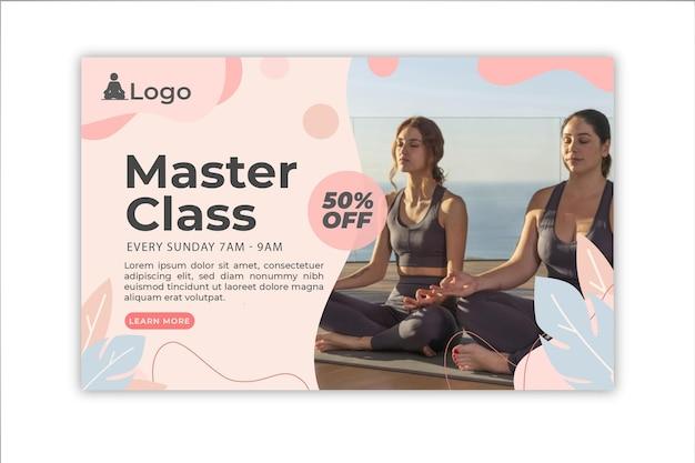 Banner de meditación y atención plena.