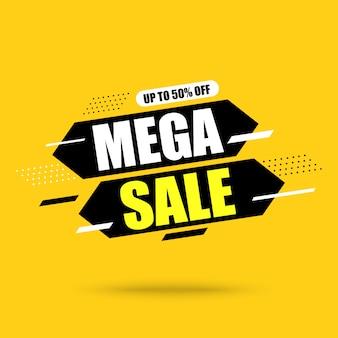 Banner de mega venta abstracta