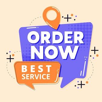 Banner de mejor servicio abstracto