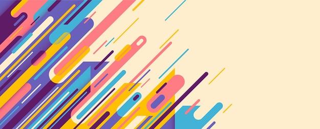 Banner de moda en estilo abstracto.
