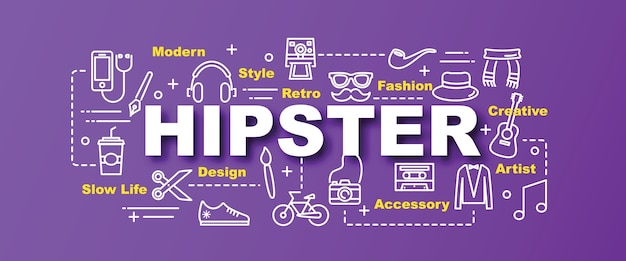 Banner de moda hipster vector