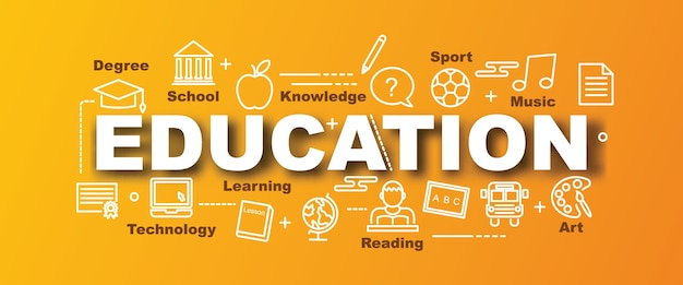 Banner de moda vector de educación