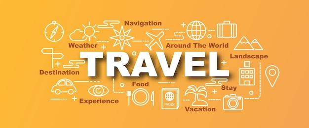 Banner de moda de vector de viaje