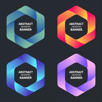 Banner moderno abstracto con degradado colorido