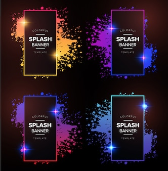 Banner moderno degradado con splash