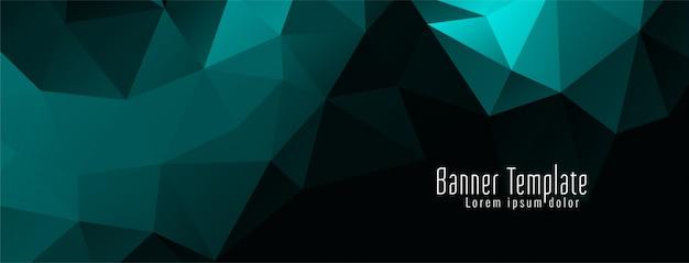 Banner moderno elegante diseño geométrico polígono