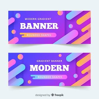 Banner moderno gradiente