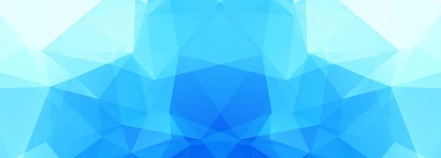 Banner moderno polígono azul