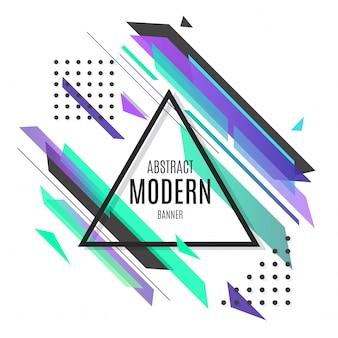 Banner moderno púrpura abstracto