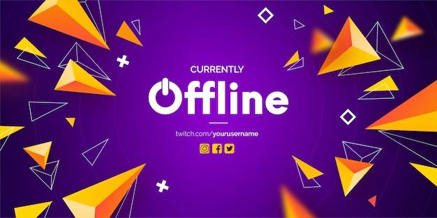Banner moderno de twitch sin conexión
