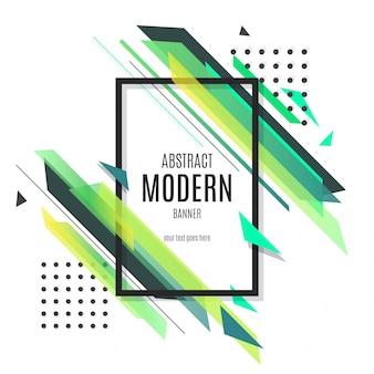 Banner moderno verde abstracto