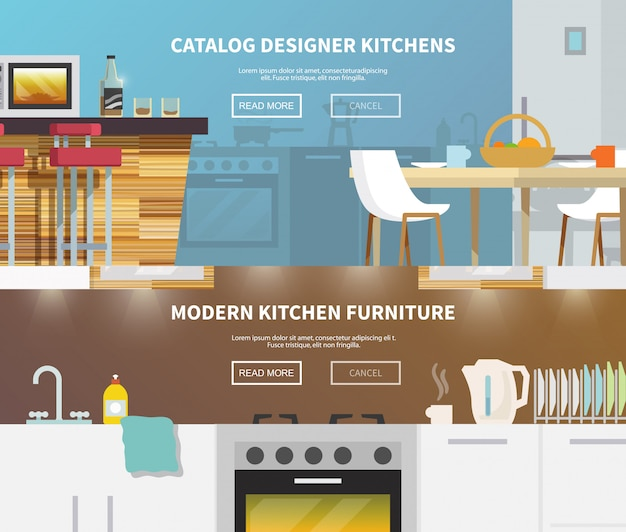 Banner de muebles de cocina