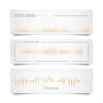 Banner de música con ecualizador