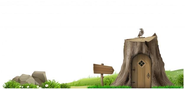 Banner natural fantasía paisaje parque de cuentos de hadas