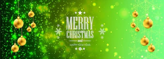 Banner de navidad para bolas de navidad para brillos brillantes