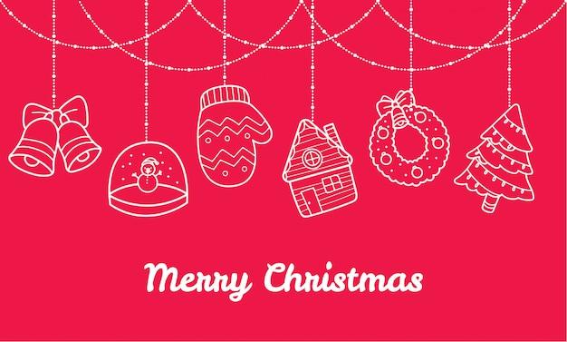 Banner navideño con lindas decoraciones