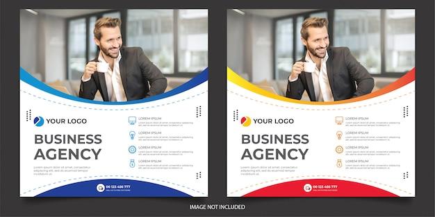 Banner de negocios corporativos premium