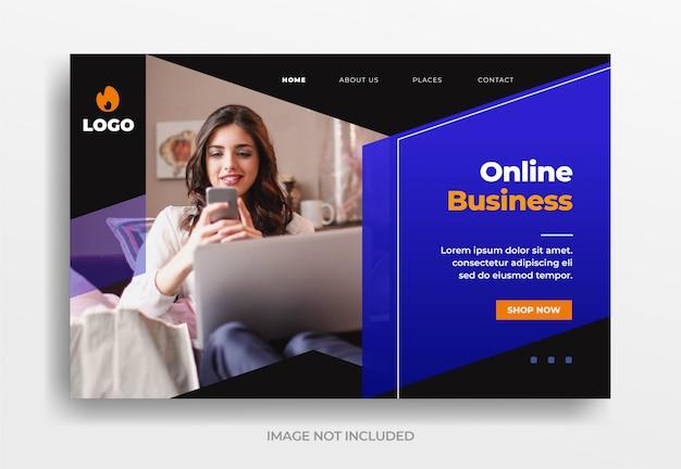 Banner de negocios en línea