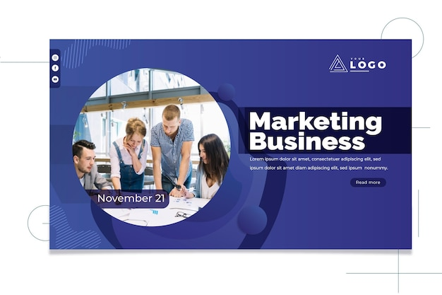 Banner de negocios de marketing