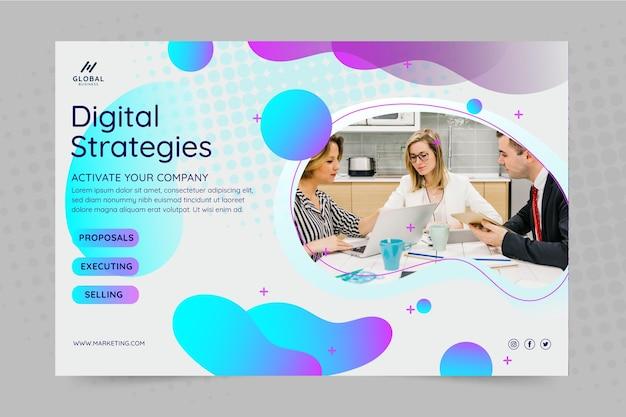Banner de negocios de marketing