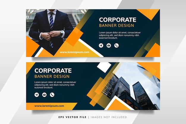 Banner de negocios moderno