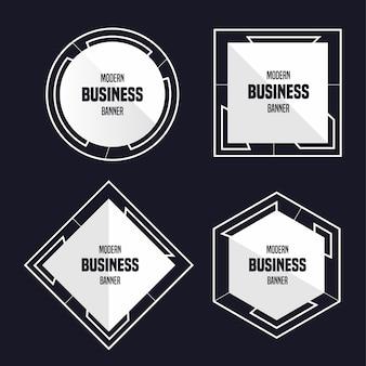 Banner de negocios modernos