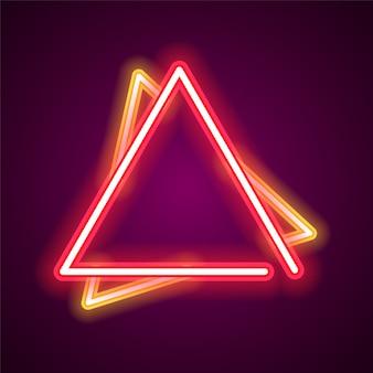Banner de neón de triángulo.