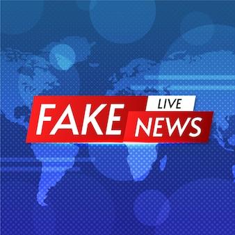 Banner de noticias falsas en vivo