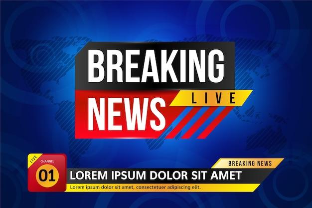 Banner de noticias en vivo