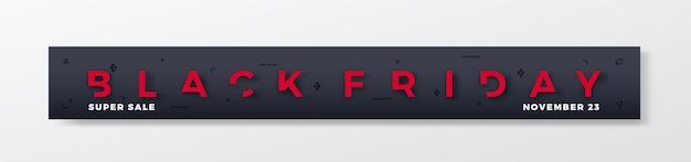Banner o encabezado premium de black friday.
