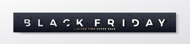 Banner o encabezado premium con estilo de black friday.