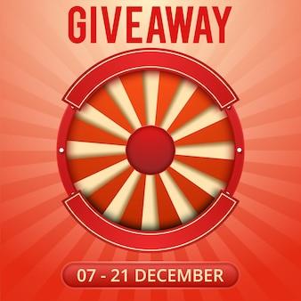 Banner de obsequio para concursos de redes sociales y oferta especial.