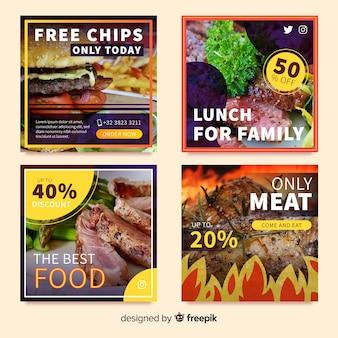 Banner oferta de comida con foto