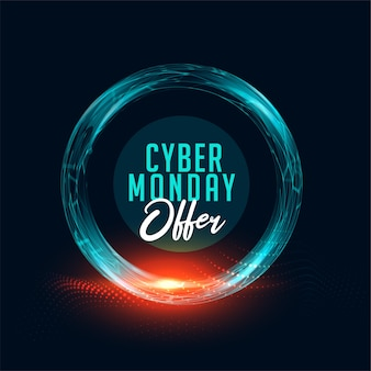 Banner de oferta de cyber monday para compras en línea