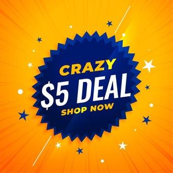 Banner de oferta de dólar loco