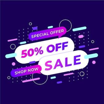 Banner de oferta especial colorido abstracto