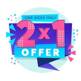 Banner de oferta especial de compras