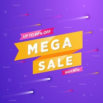 Banner de oferta especial de mega venta