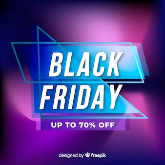 Banner de oferta especial de viernes negro degradado