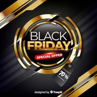 Banner de oferta especial de viernes negro realista