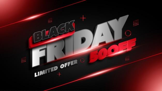 Banner de oferta limitada de black friday