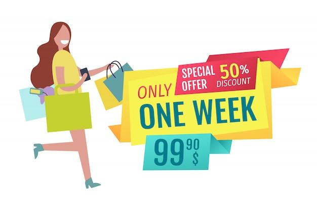 Banner de oferta de solo una semana