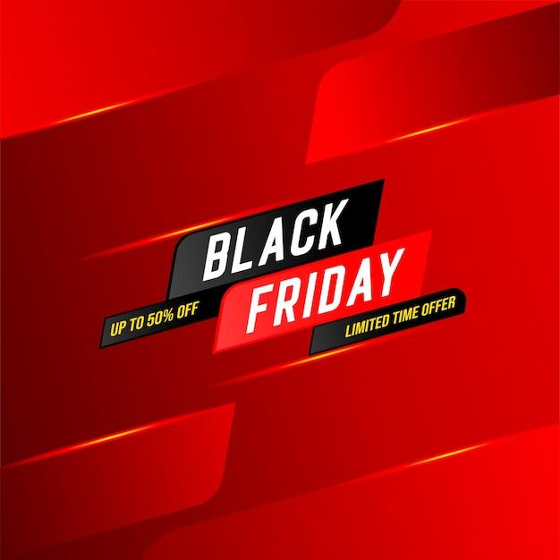 Banner de oferta por tiempo limitado de venta de viernes negro