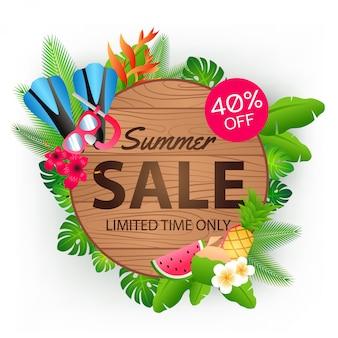Banner de oferta de venta de verano