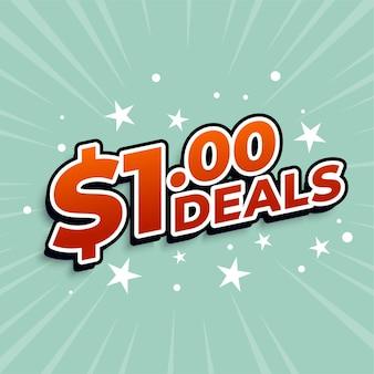 Banner de ofertas de dólar uno