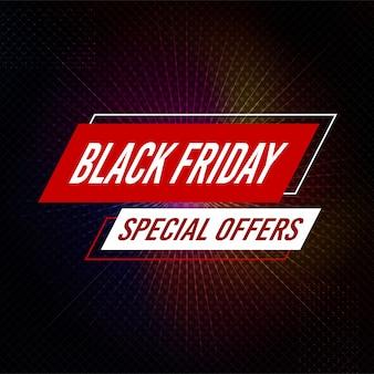 Banner de ofertas especiales de viernes negro